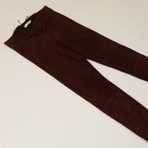 Vince Pants - Vince Wine Color Suede Ankle Zip Pant XS